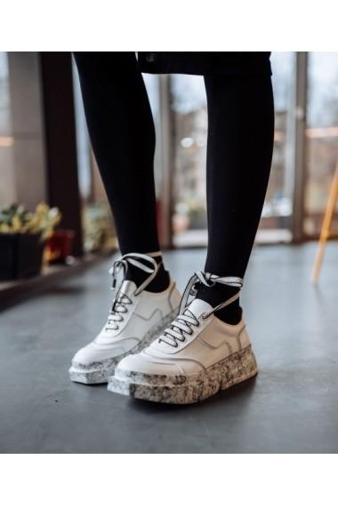 Sneakers Bigiottos din piele naturala alba BGT-GM 4001-alb