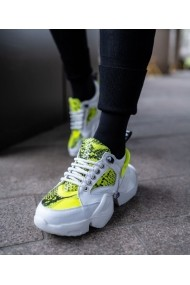 Sneakers Bigiottos din piele naturala alba BGT-101-alb