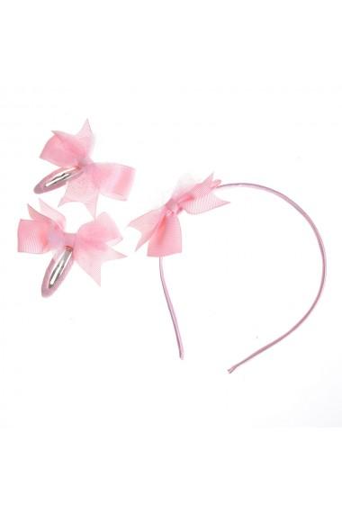 Set accesorii par roz pentru fetite