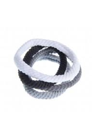Set 4 elastice impletite pentru par
