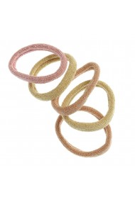 Set 6 elastice cu fir auriu pentru par