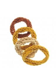 Set 4 elastice plasa nuante maro