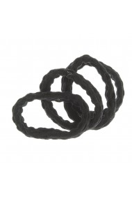 Set 4 elastice par negre buclate