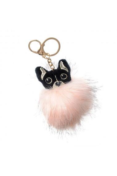 Breloc geanta pisica roz