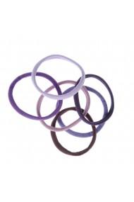 Set 6 elastice nuante mov