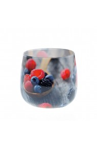 Lumanare in pahar fructe padure
