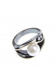 Inel elegant cu perla acrilica 54