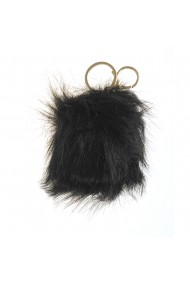 Breloc pentru geanta pufosenie neagra