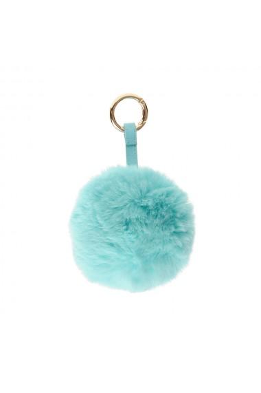 Breloc pentru geanta puf bleu