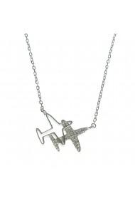 Colier argint cu pandantiv avioane