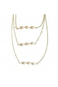 Colier triplu cu perle acrilice