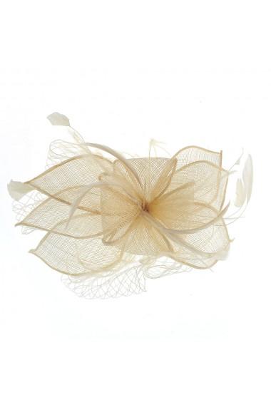 Agrafa- pieptan floare bej