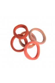 Set 5 elastice par tonuri portocalii