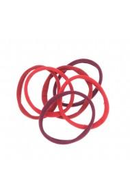 Set 6 elastice par nuante rosii