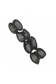 Set 4 elastice negre din plasa