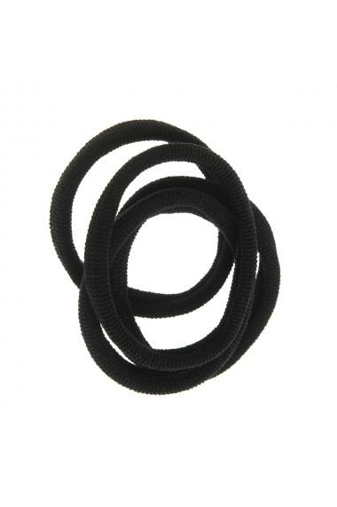 Set 4 elastice negre subtiri