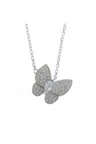 Colier argint fluture sclipitor