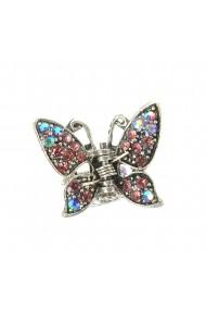 Cleste metalic fluture multicolor