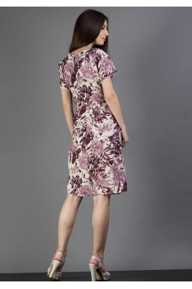 Rochie florala cu buzunare