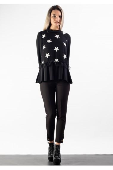 Bluza cu imprimeu stele