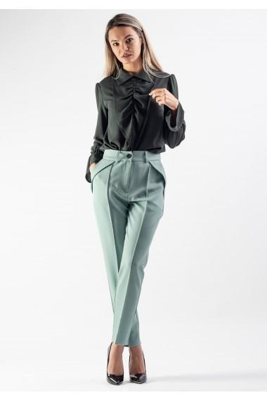 Pantalon office cu dunga cusuta pe fata