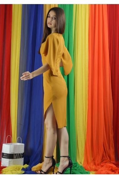 Rochie conica cu crepeu