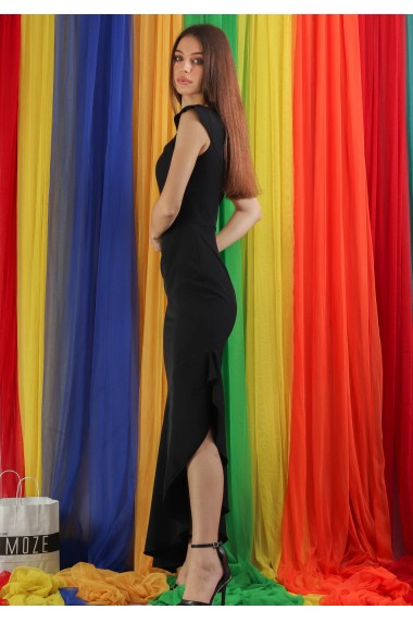 Rochie lunga cu volan lat