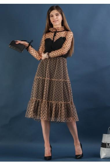 Rochie din tull cu buline