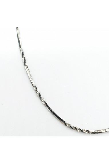 Lantisor 45 cm din argint impletit cu rodiu Breaking Bad