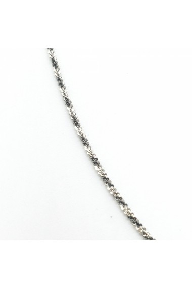 Lantisor 45 cm din argint impletit cu rodiu Ice Ice Baby