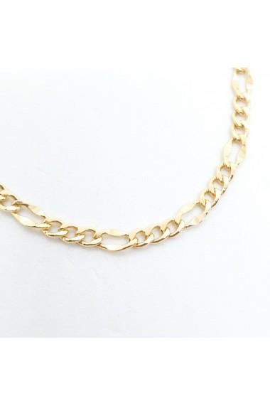 Bratara unisex 22 cm placata cu aur Espace
