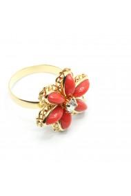Inel cu floare mare pentru femei placat cu aur Yearn
