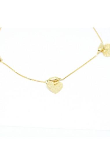 Bratara pentru glezna placata cu aur 25-30 cm Techno