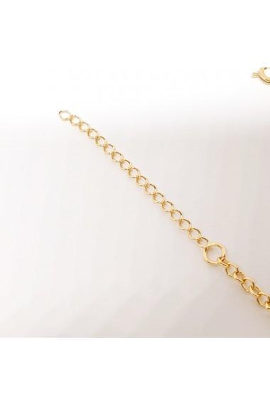 Bratara pentru picior placata cu aur 25-30 cm Rainbow