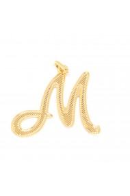 Pandantiv placat cu aur litera M