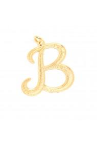 Pandantiv placat cu aur litera B