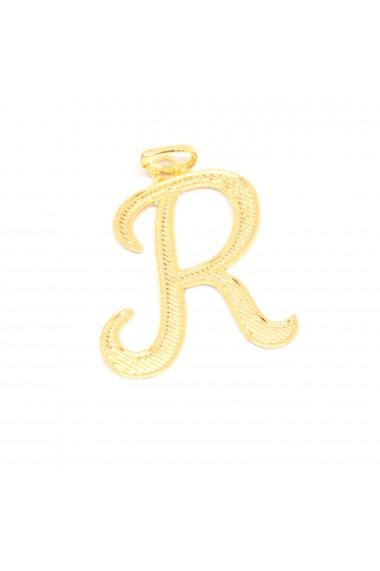 Pandantiv placat cu aur litera R