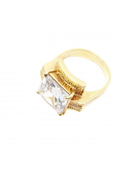 Inel tip ghiul pentru femei placat cu aur Kare