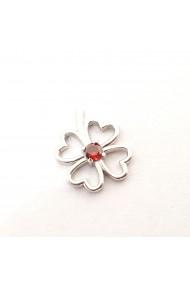 Pandantiv din argint rodiat Red Flower
