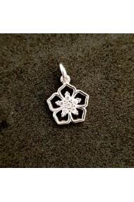 Pandantiv din argint rodiat Cubiq Flower