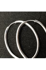 Creole ovale 5 cm din argint Silver