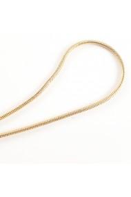 Lantisor tip sarpe 45 cm placat cu aur Judie