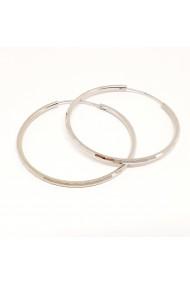 Cercei rotunzi din argint 4.2 cm Cybil