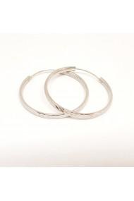 Cercei rotunzi din argint 3.2 cm Lygia