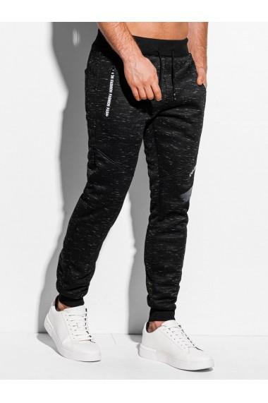 Pantaloni de trening barbati P972 - negru