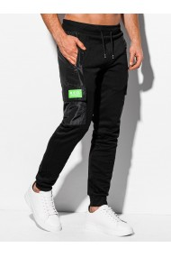 Pantaloni de trening barbati P973 - negru