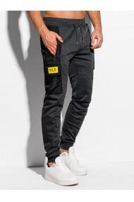 Pantaloni de trening barbati P973 - gri-inchis