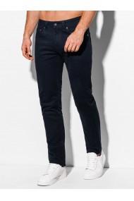 Pantaloni casual barbati P982 - bleumarin