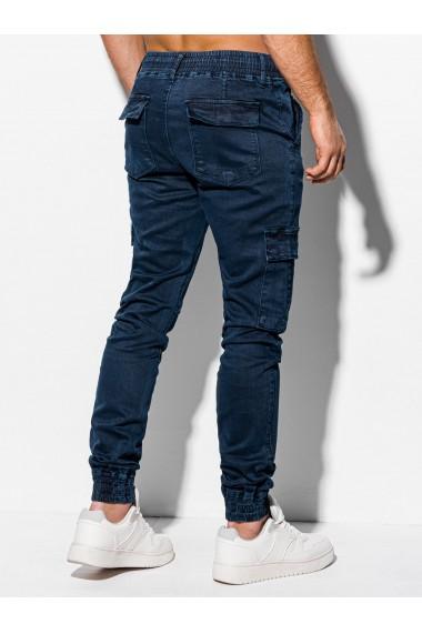 Pantaloni jogger barbati P983 - bleumarin