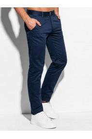 Pantaloni casual barbati P985 - bleumarin